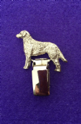 Dog Show Breed Ring Number Clip - Chesapeake Bay Retriever - FULL BODY Silver or Gold Style